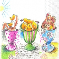 Lunch napkins EASTER EGGCUPS