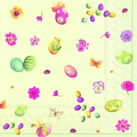 Lunch napkins LITTLE EASTER EGGS light green