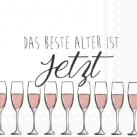 Lunch Servietten DAS BESTE ALTER rose