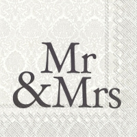 Lunch napkins MR & MRS black