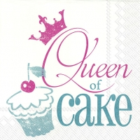 Servilletas Lunch QUEEN OF CAKE turquoise