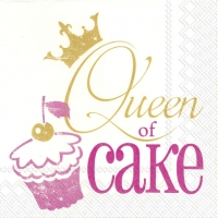Servilletas Lunch QUEEN OF CAKE pink