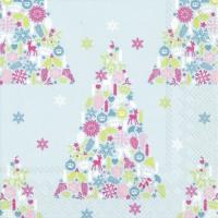 Napkins 33x33 cm - SWEET MERRY CHRISTMAS li. blue