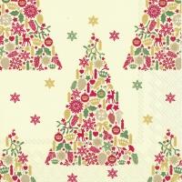 Салфетки 33x33 см - SWEET MERRY CHRISTMAS кр. красный
