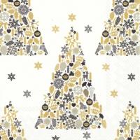 Салфетки 33x33 см - SWEET MERRY CHRISTMAS wh.black