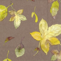 Lunch napkins WELCOME AUTUMN light brown