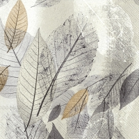 Serviettes lunch FANCY FALL grey