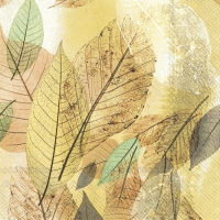 Serviettes lunch FANCY FALL ochre