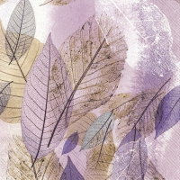 Serviettes lunch FANCY FALL light lilac