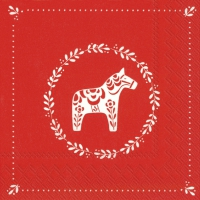 Napkins 33x33 cm - SWEET LITTLE HORSE red