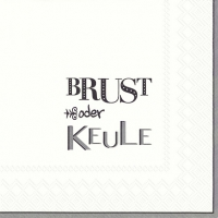 Servilletas Lunch BRUST ODER KEULE grey