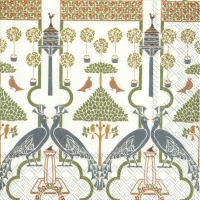 Servilletas Lunch VOYSEY (V&A) white