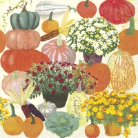 Servietten 33x33 cm - BOUNTIFUL HARVEST Sahne