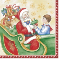 Lunch napkins SANTAS SLEDGE (V&B)