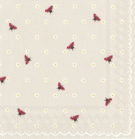 Lunch napkins LITTLE LADYBIRDS linen