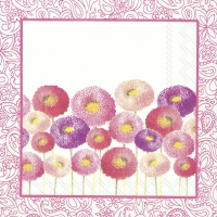 Lunch napkins PRETTY BELLIS pink