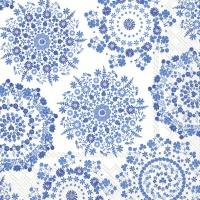 Lunch Servietten LILLY white blue