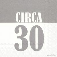 Lunch Servietten CIRCA 30 grey