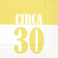 Lunch Servietten CIRCA 30 yellow
