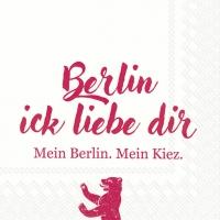 Lunch Servietten BERLIN ICK LIEBE DIR red