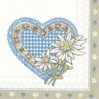Lunch napkins LOVELY EDELWEISS blue