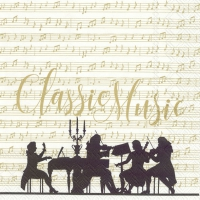 Lunch napkins CLASSIC MUSIC cream gold