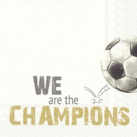Lunch napkins WE ARE THE CHAMPIONS gold