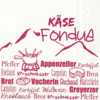 Lunch napkins KÄSE FONDUE red