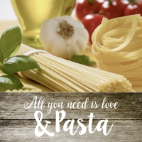Lunch napkins ALL YOU NEED IS LOVE & PASTA