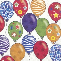 Lunch napkins PARTY BALLOONS white