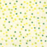 Lunch napkins DOLLY cream green