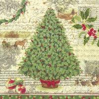 Napkins 33x33 cm - CHRISTMAS TRADITION cr. green