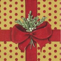 Napkins 33x33 cm - A PRESENT FOR YOU red gold