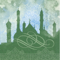 Lunch napkins NOBLE FESTIVITY green