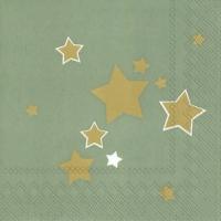 Servietten 33x33 cm - SHINY STARS Seladon