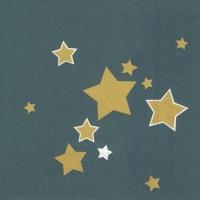 Servietten 33x33 cm - SHINY STARS Benzin