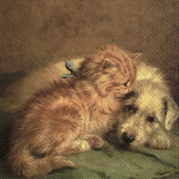 Servetten 33x33 cm - DOG EN CAT