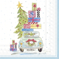 Serviettes de table 33x33 cm - NOEL CAR
