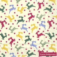 Serviettes de table 33x33 cm - POLKA REINDEER