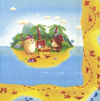Napkins 33x33 cm - TREASURE HUNT (V&B)