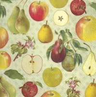 Napkins 33x33 cm - APPLE AND PEAR light green