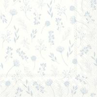 Servilletas 33x33 cm - TILDA blanco azul