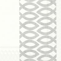 Serviettes de table 33x33 cm - JOUR CÉRÉMONIAL argent