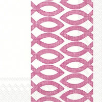 Napkins 33x33 cm - CEREMONIAL DAY pink