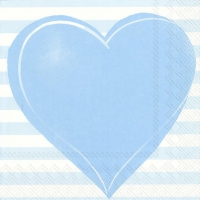 Napkins 33x33 cm - ALL YOU NEED IS LOVE ligh.blue