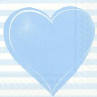 Serviettes de table 33x33 cm - ALL YOU NEED IS LOVE ligh.blue