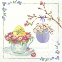 Napkins 33x33 cm - WELCOME EASTER white