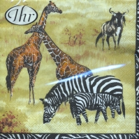 Lunch napkins Wildlife cream