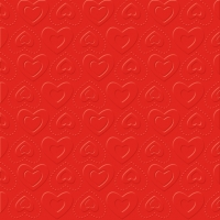 Serviettes de table 33x33 cm - CARINO UNI rouge