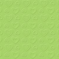 Tovaglioli 33x33 cm - CARINO UNI verde opale
